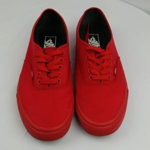 Vans Unisex Red Monochrome Skate Shoes